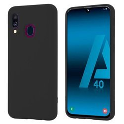 Crong Color Cover - Etui Samsung Galaxy A40 (czarny)