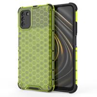 Honeycomb etui pancerny pokrowiec z żelową ramką Xiaomi Poco M3 / Xiaomi Redmi 9T zielony