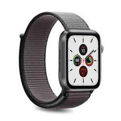 PURO Nylon - Pasek do Apple Watch 42 / 44 mm (Szary/Czarny)
