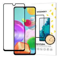 Wozinsky super wytrzymałe szkło hartowane Full Glue na cały ekran z ramką Case Friendly Samsung Galaxy A41 czarny
