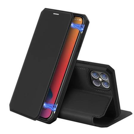 DUX DUCIS Skin X kabura etui pokrowiec z klapką iPhone 12 Pro Max czarny