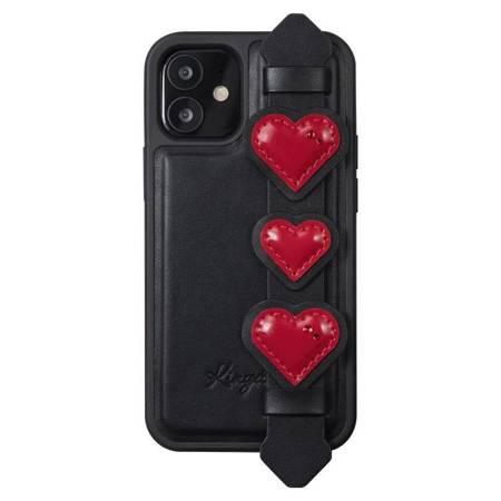 Kingxbar Sweet Series żelowe etui ozdobione oryginalnymi Kryształami Swarovskiego z podstawką iPhone 12 Pro / iPhone 12 czarny